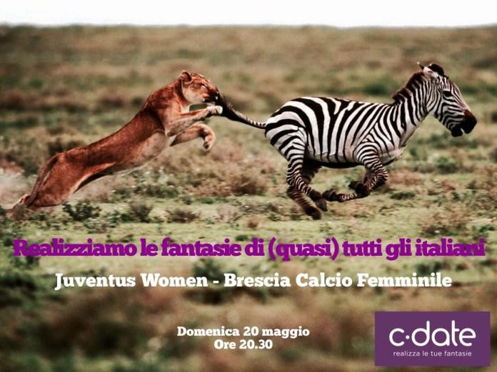 La provocazione di C-date, sponsor del Brescia Calcio Femminile