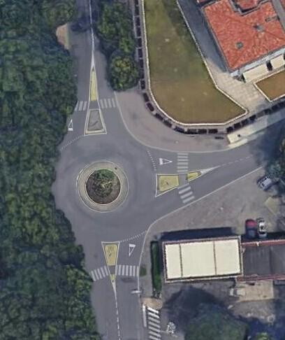Il rendering della nuova rotatoria in via Turati
