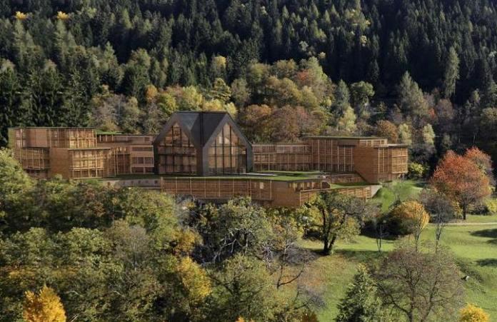 Il rendering del nuovo resort Lefay di Pinzolo, in Trentino