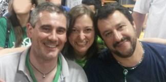 Marianna Archetti con Matteo Salvini