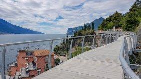 Il lavori di realizzazione della nuova pista ciclabile del lago di Garda, il cosidetto anello ciclabile del Garda
