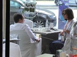 Ambra Angiolini e Massimiliano Allegri fanno colazione alla pasticceria San Carlo di Facebook, foto pagina Facebook ufficiale Leopoldo Giannini