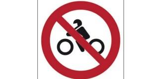Vietato il passaggio alle moto