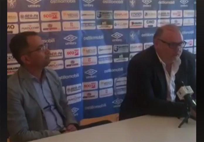 Il presidente del Brescia Femminile Giuseppe Cesari e il direttore sportivo Cristian Peli, foto conferenza stampa diretta Facebook