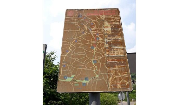 La mappa dei parcheggi per le cascate di Monticelli Brusati