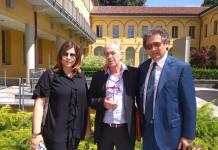 Sergio Bramini con l'avvocato Biagio Riccio e l'avvocato bresciano Monica Pagano