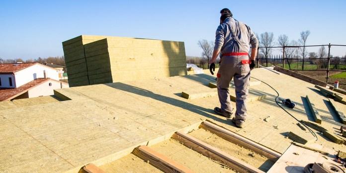 Tetto in costruzione, foto generica