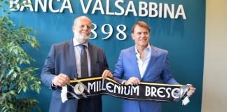 Il direttore generale Banca Valsabbina Tonino Fornari con il presidente Millenium Roberto Catania - foto da ufficio stampa