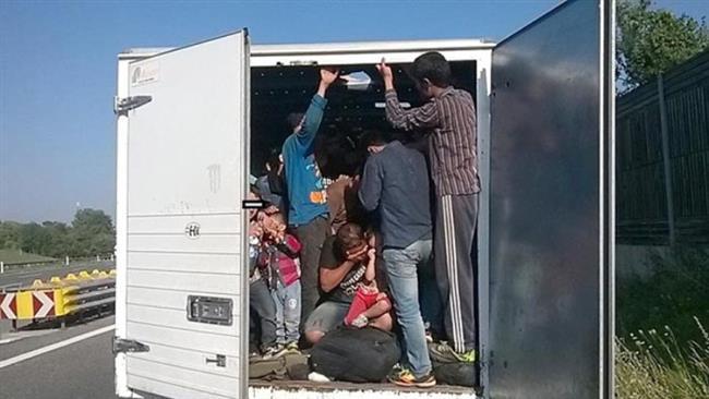 Clandestini trovati in un camion, foto generica