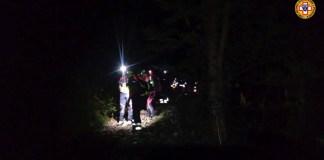 Le immagini del recupero da parte del CNSAS a Nave - foto da ufficio stampa