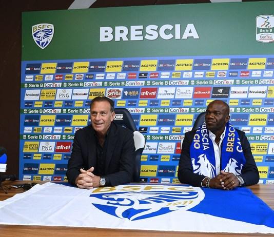 Massimo Cellino e David Suazo, presidente e allenatore del Brescia, foto da sito ufficiale Brescia Calcio