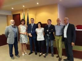 Da sinistra Rodella, Prandini, Giancarli, Rigotti e Mottinelli