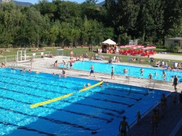 Le piscine esterne di Mompiano