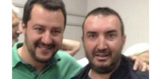 Il leader della Lega Matteo Salvini con Pierluigi Toscani