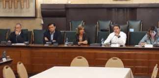 Il consiglio provinciale di oggi: a sinistra Fabrizio Scuri, a destra Pier Luigi Mottinelli
