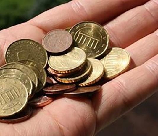 Pochi euro, foto generica