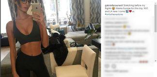 La top model francese Gabrielle Caunesil è arrivata sul Garda