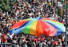 Una manifestazione pro diritti degli immigrati, foto generica