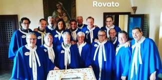 La confraternita del Manzo all'olio di Rovato, guidata dal Gran Maestro Alberto Bittu