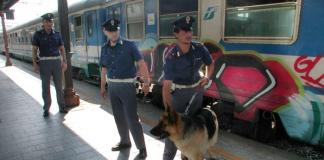 Controlli della Polizia sui treni, foto generica