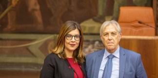 L'avvocato bresciano Monica Pagano con Sergio Bramini