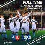 Donnarumma dopo uno dei tre gol siglati - foto da Facebook Brescia Calcio