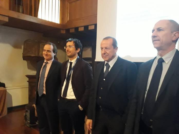 Sa sinistra: Ferrata, Delbarba, Mazzoni e Tira