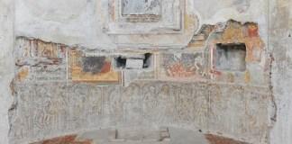 L'affresco della Danza Macabra nella Chiesa di San Silvestro a Iseo come si presenta oggi