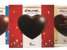 I cuori di cioccolato di Telethon
