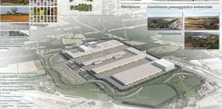 Il progetto del nuovo polo logistico di Esselunga a Ospitaletto