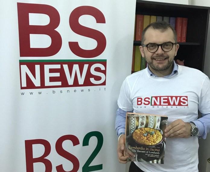 L'assessore regionale Fabio Rolfi in visita alla redazione di BsNews.it