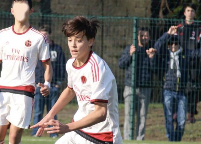 Il giovane calciatore bresciano Nicola Torchio