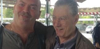 Pieritalo Bosio con l'ex leader della Lega Umberto Bossi