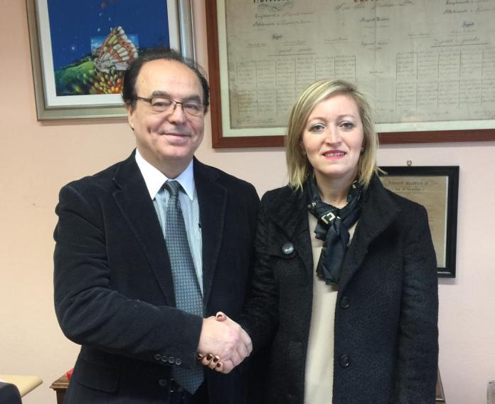 Ernesto Taveri con il sindaco Cristina Almici