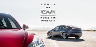 Tesla Model 3 in Tour