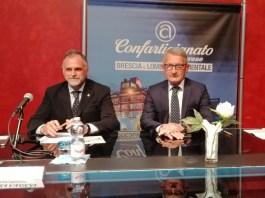 Il viceministro Massimo Garavaglia con il presidenete di Confartigianato Eugenio Massetti