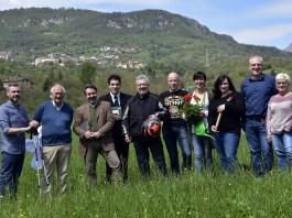 La compagine di Bione che cresce, con al centro il candidato Ubaldo Vallini, foto da Facebook