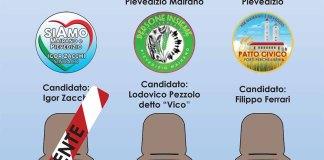 Un'immagine del depliant con cui viene pubblicizzato l'incontro tra i candidati sindaci di Mairano