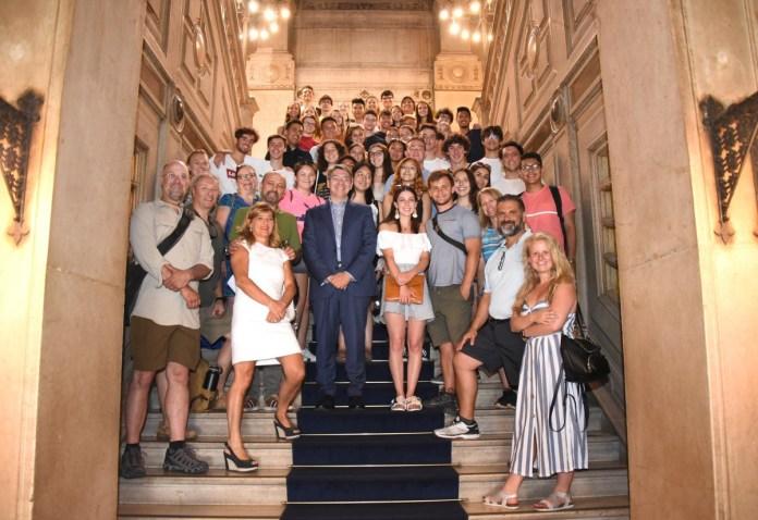 Saluto col sindaco in Loggia agli studenti di Chicago in visita a Brescia per scambio con studenti Liceo Copernico