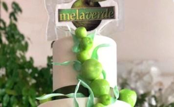 Una torta della pasticceria di Chiari dedicata a Melaverde
