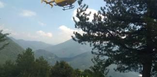 Elisoccorso in azione, foto Soccorso Alpino