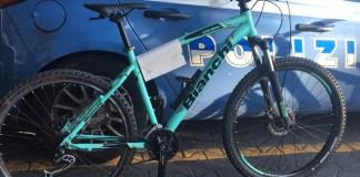 bici recuperata dalla Polizia - foto Polizia