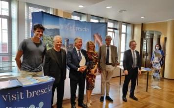Da sinistra Cassarà, Massari, Saccone, Chiodi, Polettini, Gabriele - foto da Visit Brescia
