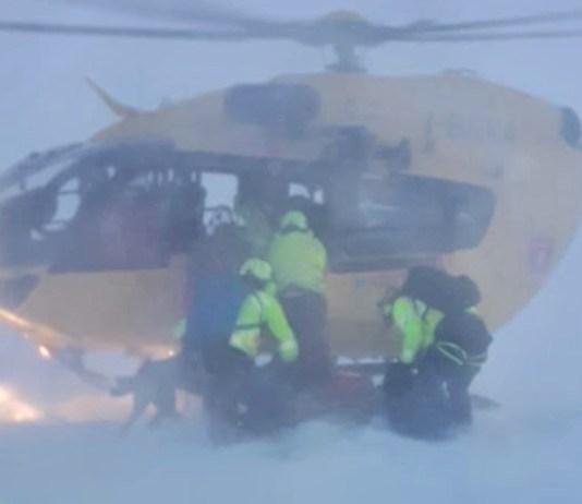 Intervento del soccorso alpino - foto da Cnsas