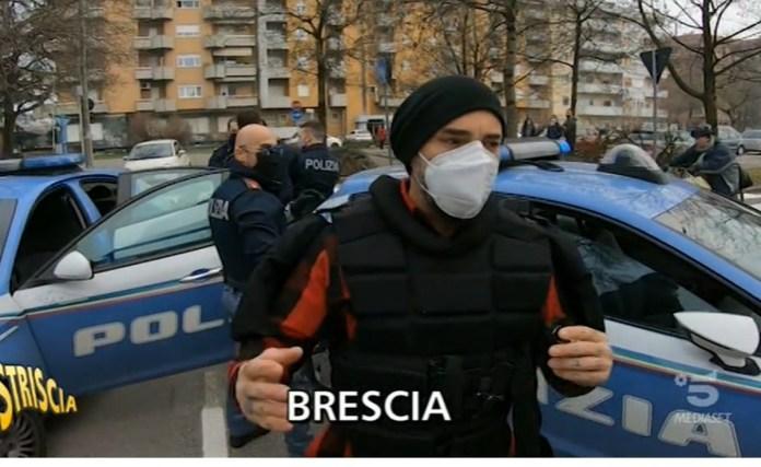 Aggressione di Vittorio Brumotti di Striscia la notizia a Brescia - intervento della Polizia