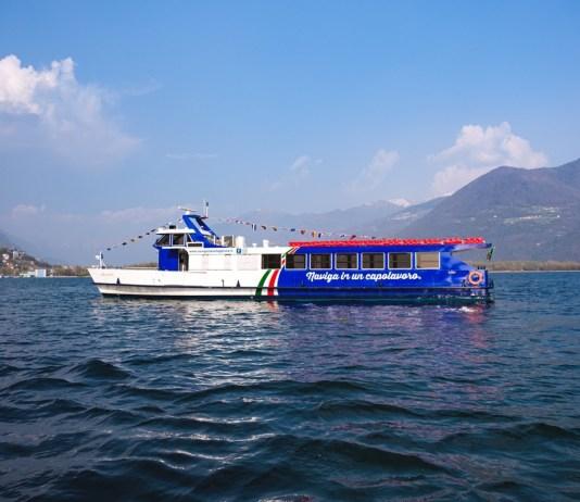 Un battello di Navigazione Lago d'Iseo, foto da ufficio stampa