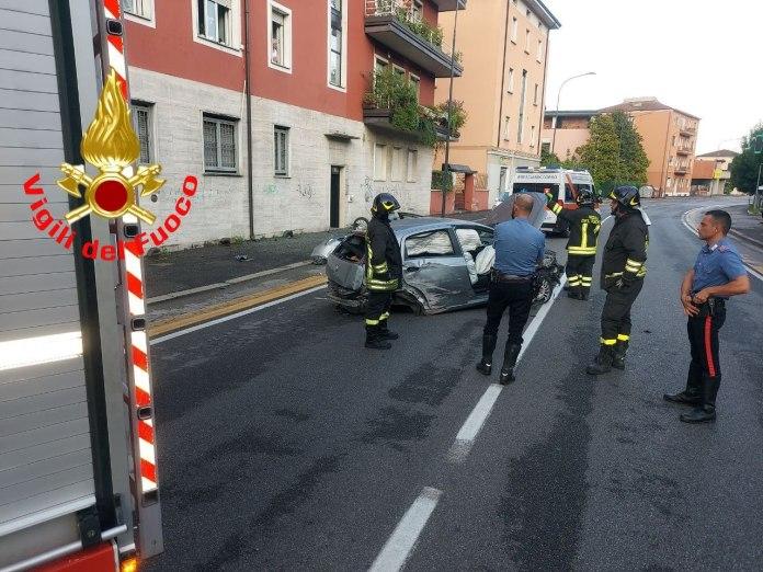 incidente - foto da Vigili del fuoco di Brescia