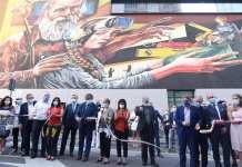 Futura Traditio, murale di Vera Bugatti e Fabio Maria Fedele per Assoartigiani - Associazione Artigiani di Brescia e Provincia