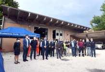 La nuova sede della protezione civile in via Marconi - foto Comune di Brescia