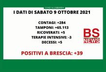 Dati Covid-19 Lombardia e Brescia 9 ottobre 21